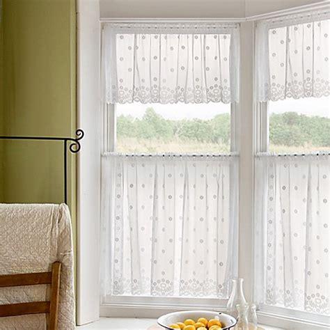 daisy curtains daisy window curtain tier bed bath beyond