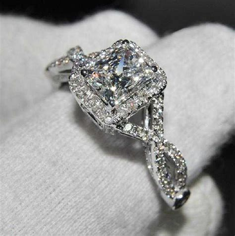 3 ct cushion cut diamond engagement wedding ring certified