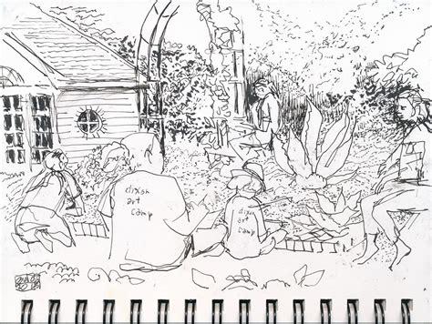 garten zeichnung sketchers sketching at the dixon in
