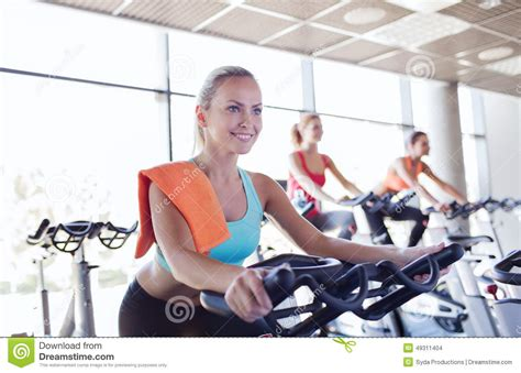 Spinning Bike Sport Id 9 2n of on exercise bike in stock photo