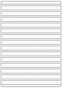 Size Of Writing Paper Lined Writing Paper Free A4 Sized By Mldeducational