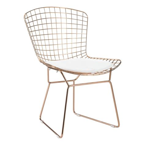 Wire Patio Chairs Zuo White Mesh Wire Outdoor Chair Cushion 188005 The Home Depot