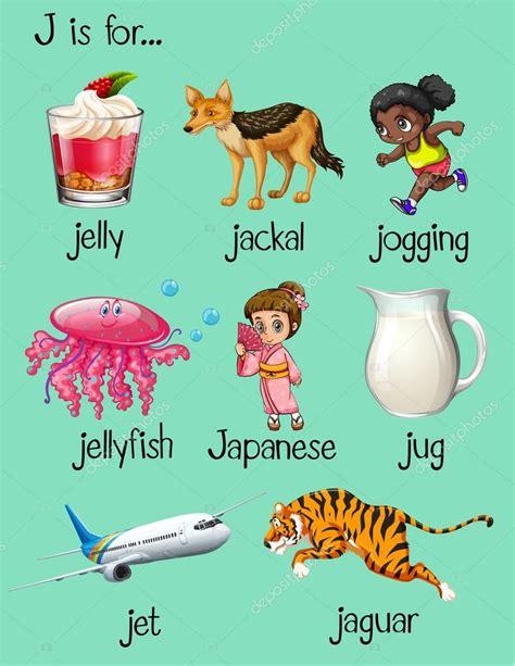 imagenes que inicien con la letra j palabras comienzan con la letra j vector de stock