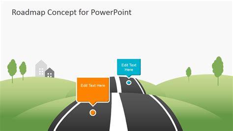 Creative Roadmap Concept Powerpoint Template Slidemodel For Powerpoint