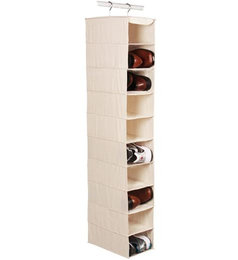 hanging shoe organizer large hanging closet shoe organizer 10 pocket in hanging