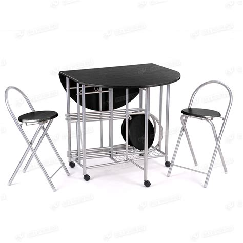 5pc steel butterfly folding dining table and 4 chairs