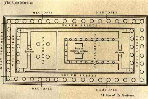 floor plan of parthenon parthenon architecture
