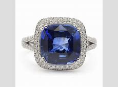 Double Halo Blue Sapphire Ring | Gemstone Jewelry - Wixon ... 1 Carat Cushion Cut Halo Engagement Ring