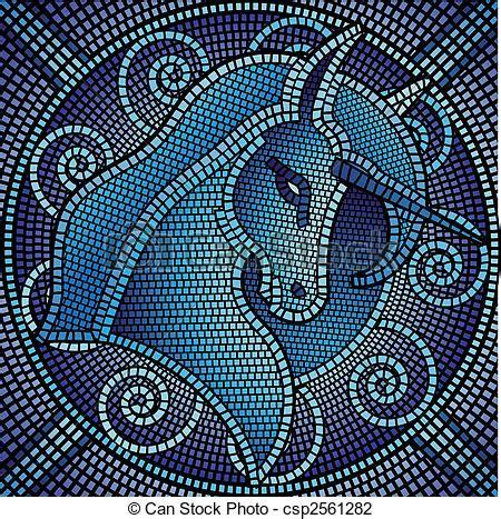 Disegni Per Mosaico by Illustrazioni Vettoriali Di Mosaico Unicorno