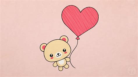 valentines teddy drawing how to draw s day present teddy with