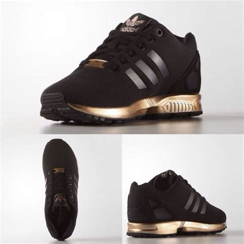 Adidas Zx Flux Limited Edition by Womens Adidas Zx Flux Black Copper Gold Bronze