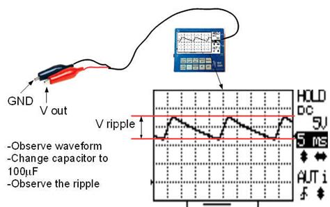 how to discharge a filter capacitor cheap oscilloscope and sensor probes for physics experiment in school