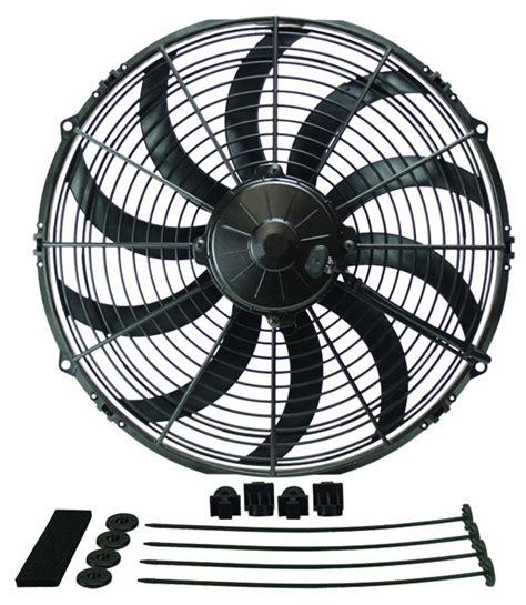 extreme garage fan blades derale 16114 extreme curved blade fan