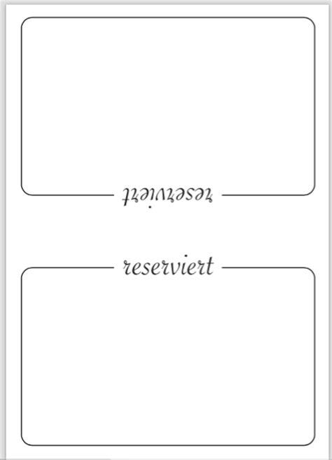 Word Vorlage Namensschilder Tisch Tischaufsteller Vorlage Reserviert Stammtisch Pdf Convictorius