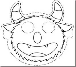 Mash Outline by Teaching To The Ones Owl And Masks For October Crafts