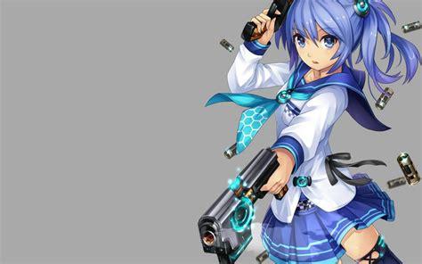 wallpaper anime girl with gun cute anime girl with gun wallpaper