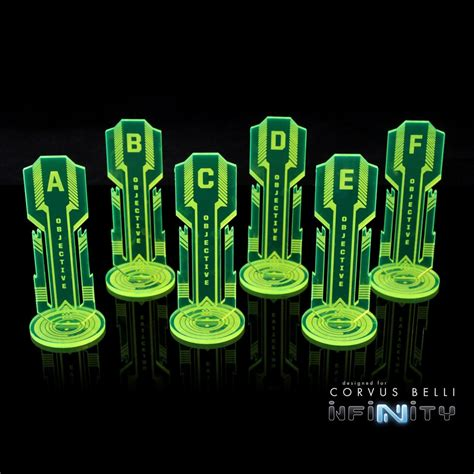 infinity items infinity the 40mm acrylic objective markers template