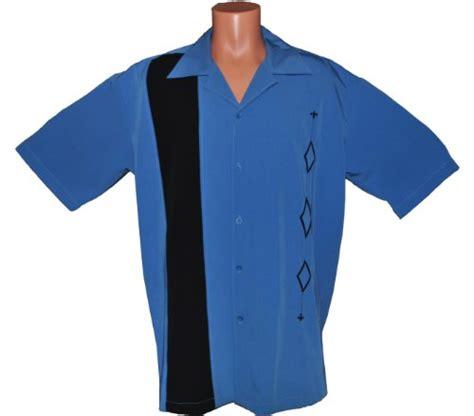 Blouse Big Size Tali mens retro bowling shirt big sizes alaska blue