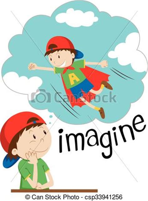 free clip stock photos clipart vector of boy imagining being