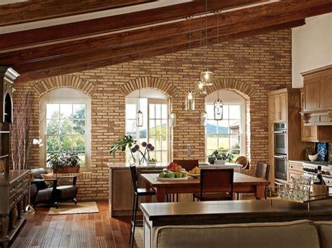 pietra a vista per interni mattoni a vista per interni fascino versatile