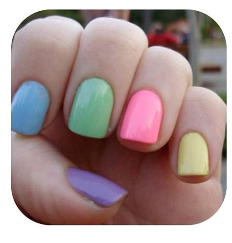 different color nails different colored nails