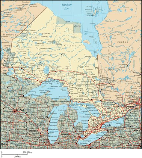 ontario map detailed map of ontario canada
