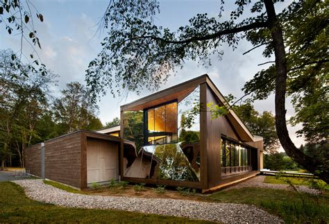 discovery homes design center subtly twisting geometry inserted in nature discovery