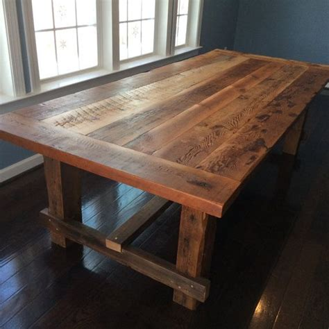 Farmhouse Style Kitchen Table by Farm Style Dining Table Made From Reclaimed Barn