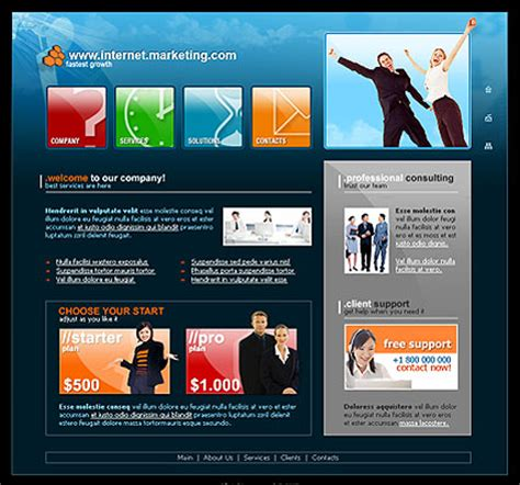internet marketing website template best website templates