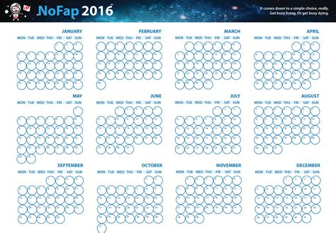 printable calendar reddit happy holidays my gift to you all 2016 nofap calendar