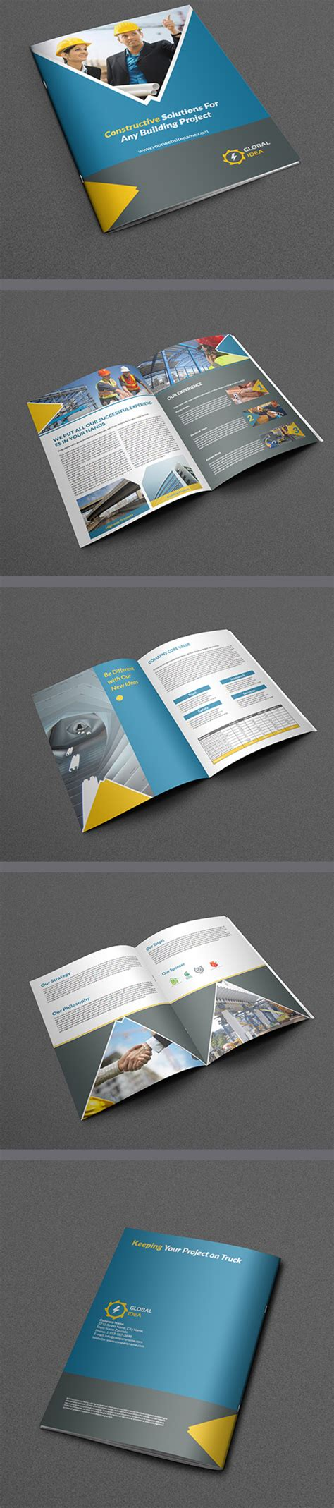 Awesome Corporate Printable Brochure Designs Graphics Design Design Blog Awesome Brochure Templates