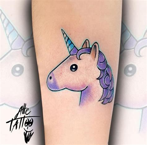 unicorn emoticon best tattoo ideas amp designs