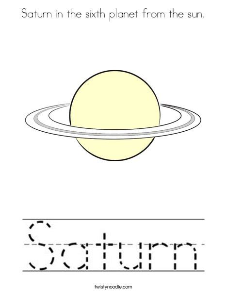 saturn coloring page saturn in the sixth planet from the sun coloring page
