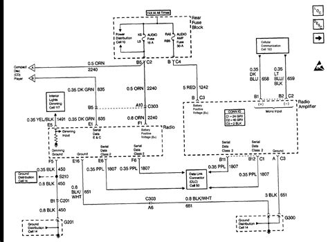cadillac stereo wiring diagram get free image