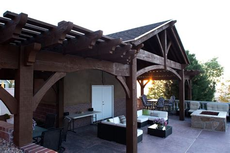 pergola pavillon showy steep sloped backyard pool house pavilion