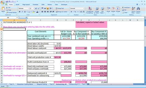 food costing sheet template recipe costing formula costing spreadsheet template cost