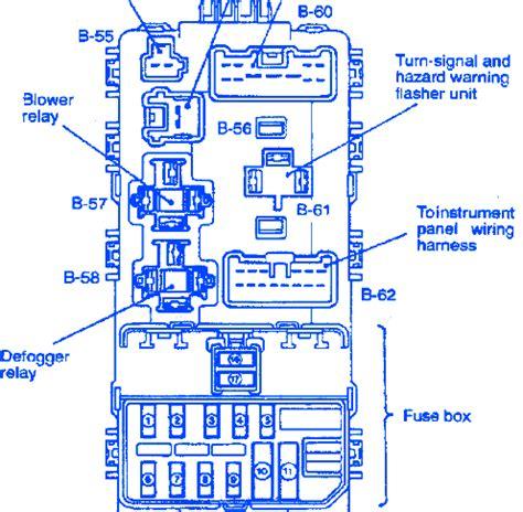 mirage door  turn signal fuse boxblock circuit
