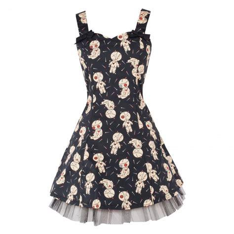 black x voodoo black voodoo doll mini dress
