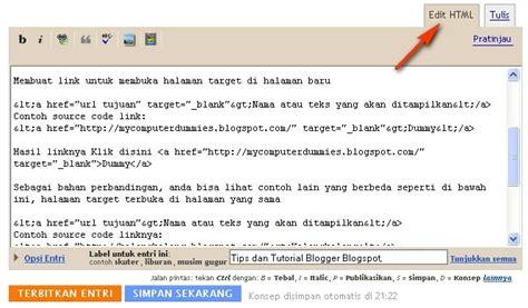 membuat link ke tab baru membuat link untuk membuka halaman target di halaman tab