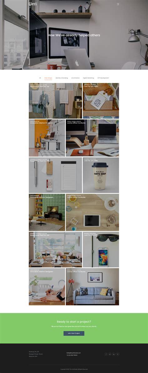 themeforest yeti yeti creative portfolio psd template by bickyg themeforest