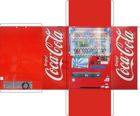 Paper Crafting Machines - vending machine obsessive creates papercraft version of