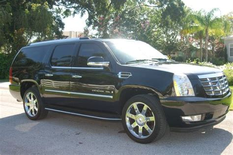 2007 cadillac escalade engine for sale sell used 2007 cadillac escalade esv 1 owner black on