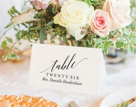 Wedding Place Card Template Rustic by Wedding Place Cards Wedding Place Card Printable Place