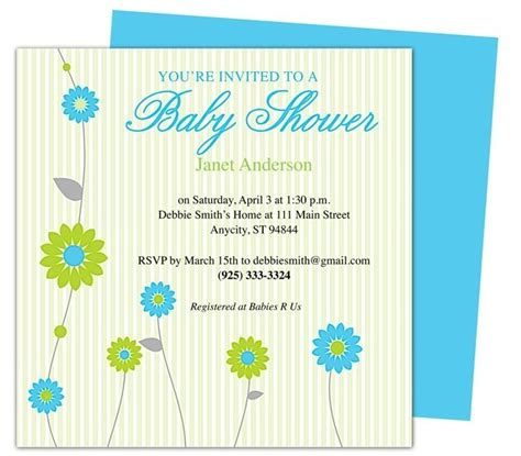baby shower invite template baby shower invitation templates beepmunk