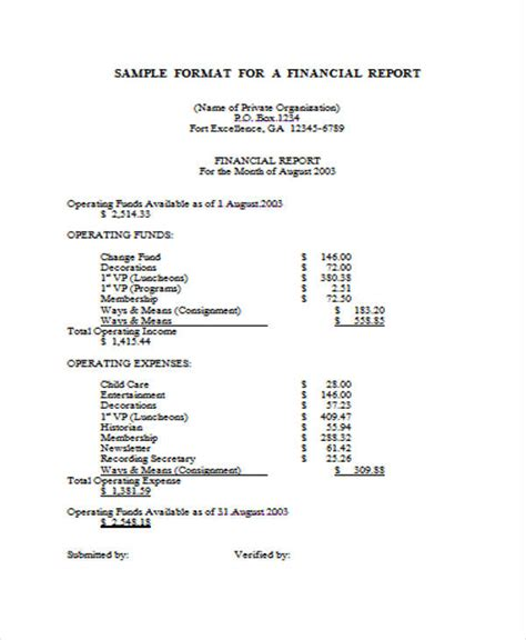 simple annual report template financial report template page word excel pdf