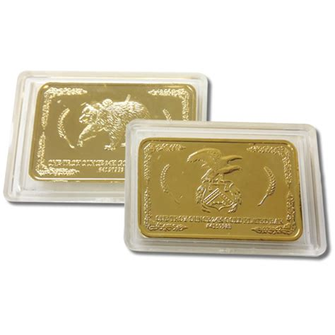 gold plated 24k gold plated troy ounce bar