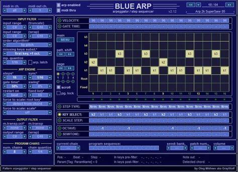 drum pattern sequencer vst free arpeggiator vst bluearp vst midi arpeggiator with