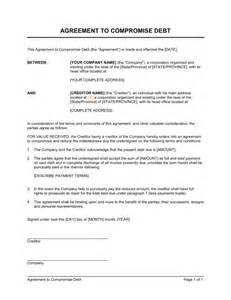 deed of acknowledgement of debt template agreement to compromise debt template sle form