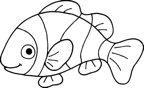 Free Coloring Pages Of Clown Fish Outline Coloring Page Of Clown Fish Coloring Page