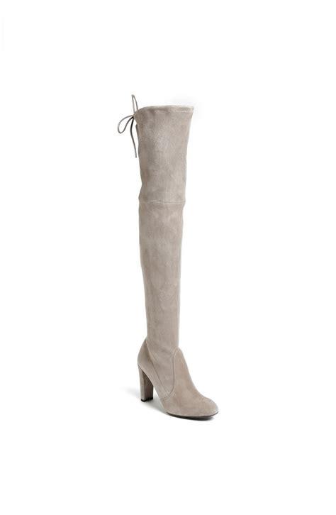 stuart weitzman highland the knee boots stuart weitzman highland the knee boot in white topo